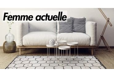 Our Bee rug brings out an elegant touch for Femme Actuelle